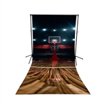 Basketball Court Floor Extended Printed Backdrop