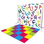 Alphabet Tiles Floor Extended Printed Backdrop