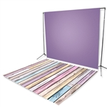 Lavender & Painted Pastel Planks Floor Extended Printed Backdrop