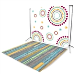 Color Burst Floor Extended Printed Backdrop