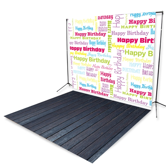 Happy Birthday Floor Extended Printed Backdrop