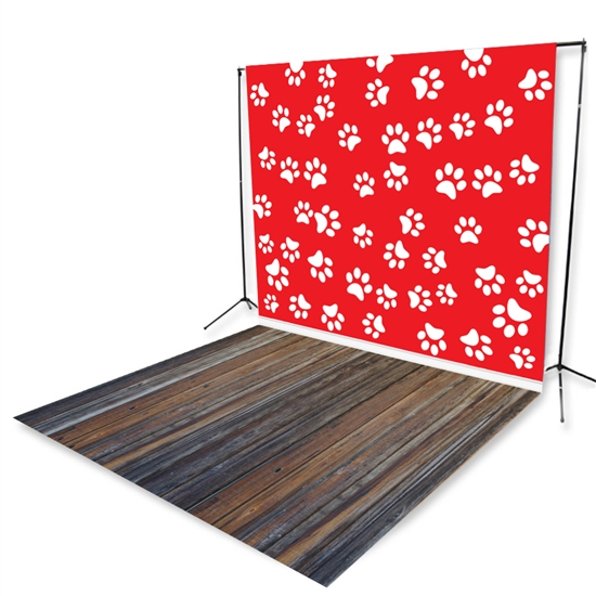 Paws and Planks Floor Extended Printed Backdrop