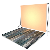 Peach Distressed Floor Extended Printed Backdrop