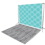 Polka Planks Floor Extended Printed Backdrop