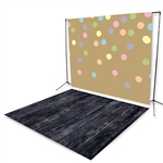 Cake Sprinkles & Black Smokey Wood All in One Floor Extended Printed Backdrop