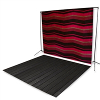 Red & Black Chevron Floor Extended Printed Backdrop