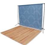 Tonal Blue Damask Floor Extended Printed Backdrop