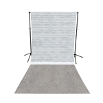 White Brick & Concrete All-in-One Printed Backdrop