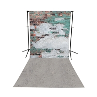 Mint Brick & Concrete All-in-One Printed Backdrop