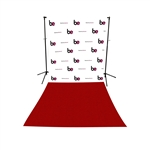 Custom Event Floor Extended Backdrop