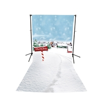 North Pole Floor Extended Printed Backdrop