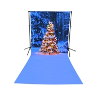 Christmas in the Forest All-in-One Printed Vinyl Backdrop