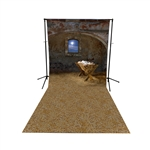 Old Manger Floor Extended Printed Backdrop