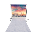 Winter Sunrise Floor Extended Printed Backdrop