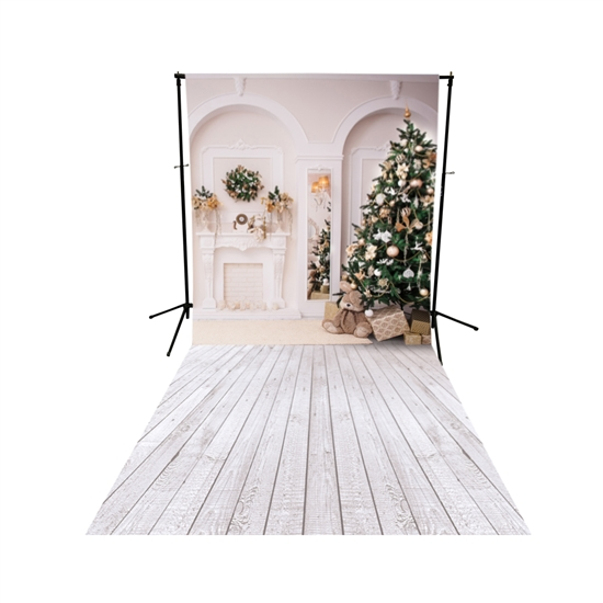 Classic Christmas Floor Extended Printed Backdrop