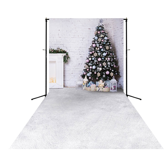 Christmas Loft Floor Extended Printed Backdrop