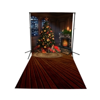The Night of Christmas Eve Floor Extended Printed Backdrop