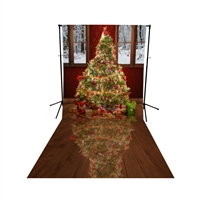 Christmas Ballroom Floor Extended Printed Backdrop