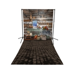 Santa's Workshop Floor Extended Printed Backdrop