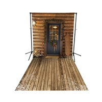 Santa's Cabin Floor Extended Printed Backdrop