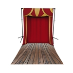 Circus Stage Floor Extended Printed Backdrop