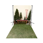 Ski Lodge Scenic Floor Extended Printed Backdrop