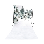 Winter Wonderland Scenic Floor Extended Printed Backdrop
