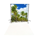 Coconut Palm Trees Floor Extended Printed Backdrop