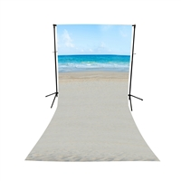 Beach Waves Floor Extended Printed Backdrop