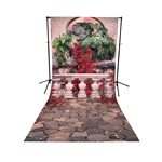 Sunset Terrace Floor Extended Printed Backdrop