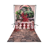 Sunset Terrace All-in-One Printed Vinyl Backdrop