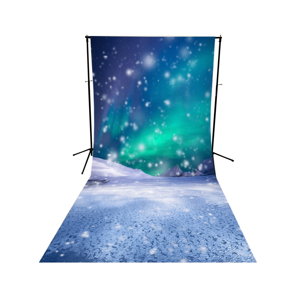 Mystical Snow Storm Floor Extended Backdrop Backdrop Express