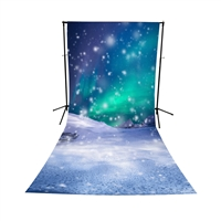 Mystic Snow Storm All-in-One Printed Vinyl Backdrop