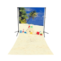 Sandcastle Island Floor Extended Printed Backdrop