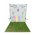 Spring Fence & Grass Floor Extended Printed Backdrop