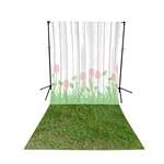 Tulip Planks & Grass All-in-One Printed Vinyl Backdrop