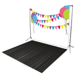 Birthday Party Floor Extended Printed Backdrop