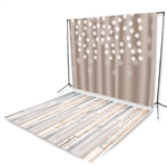 Mocha Bokeh & Bleach Planks Floor Extended Printed Backdrop