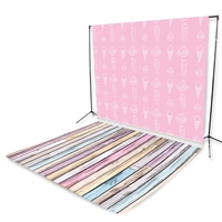 Pink Ice Cream Floor Extended Printed Backdrop