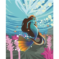 Aquatic Mermaid Printed Backdrop