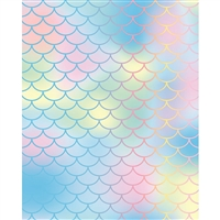 Pastel Mermaid Scales Printed Backdrop