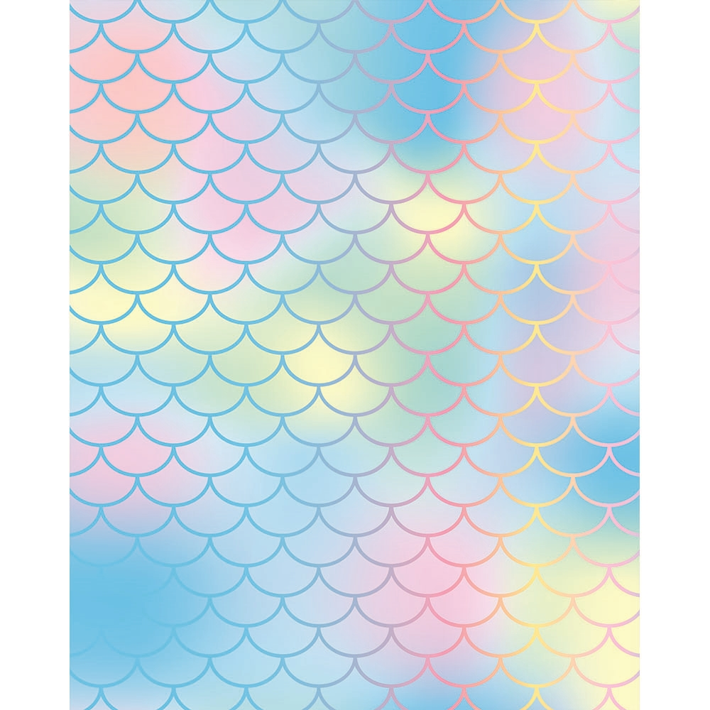 Pastel Mermaid Scales Printed Backdrop Backdrop Express
