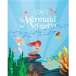 Mermaid Party Printed Backdrop
