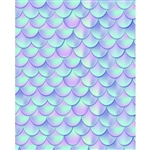 Iridescent Mermaid Scales Printed Backdrop