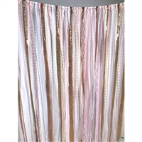Pink & Gold Fabric Garland Backdrop