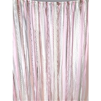 Rose Gold Fabric Garland Backdrop