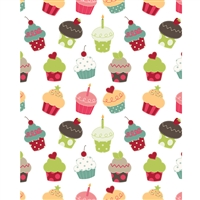Cupcakes Printed Backdrop
