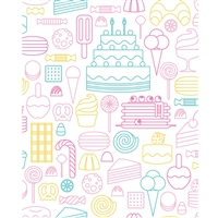 Dessert Outlines Printed Backdrop