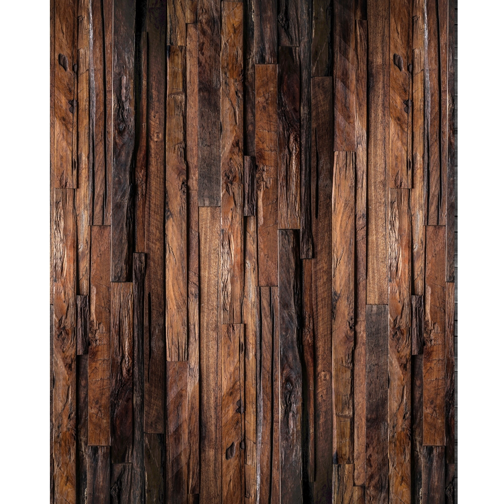 Rugged Wood Planks Studio Photography Backdrop w Wrinkle Free Cloth x 8ft 8ft h
