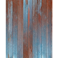 Orange and Teal Planks Floordrop